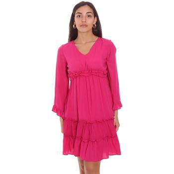Υφασμάτινα Γυναίκα Κοντά Φορέματα Fracomina FR21SD1047W41801 Ροζ