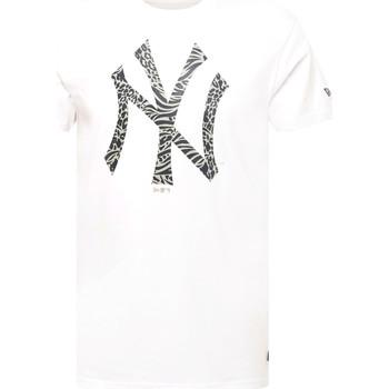 Υφασμάτινα Άνδρας T-shirt με κοντά μανίκια New-Era 12369838 λευκό