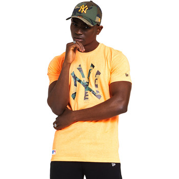 Υφασμάτινα Άνδρας T-shirt με κοντά μανίκια New-Era 12369840 Πορτοκάλι