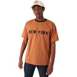 Υφασμάτινα Άνδρας T-shirt με κοντά μανίκια New-Era 12720111 καφέ