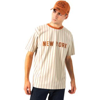 Υφασμάτινα Άνδρας T-shirt με κοντά μανίκια New-Era 12720112 Μπεζ