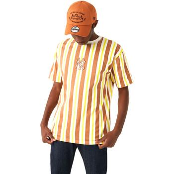 Υφασμάτινα Άνδρας T-shirt με κοντά μανίκια New-Era 12720144 καφέ