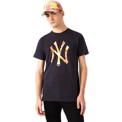 Υφασμάτινα Άνδρας T-shirt με κοντά μανίκια New-Era 12720165 Μαύρος