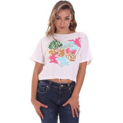 Υφασμάτινα Γυναίκα T-shirt με κοντά μανίκια Gaudi 111BD64041 λευκό