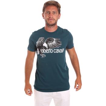 T-shirt με κοντά μανίκια Roberto Cavalli HST68B