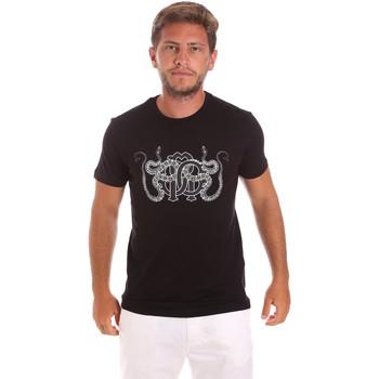 Υφασμάτινα Άνδρας T-shirt με κοντά μανίκια Roberto Cavalli HST66B Μαύρος