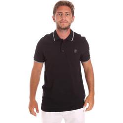 Υφασμάτινα Άνδρας Πόλο με κοντά μανίκια  Roberto Cavalli FST697 Μαύρος