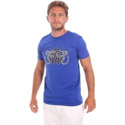 Υφασμάτινα Άνδρας T-shirt με κοντά μανίκια Roberto Cavalli HST66B Μπλε