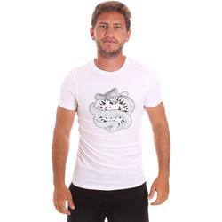 Υφασμάτινα Άνδρας T-shirt με κοντά μανίκια Roberto Cavalli HST64B λευκό