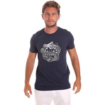 Υφασμάτινα Άνδρας T-shirt με κοντά μανίκια Roberto Cavalli HST64B Μπλε