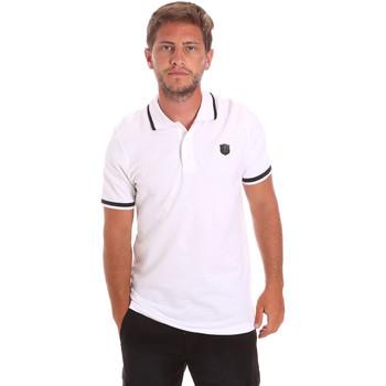 Υφασμάτινα Άνδρας Πόλο με κοντά μανίκια  Roberto Cavalli FST697 λευκό