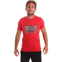 Υφασμάτινα Άνδρας T-shirt με κοντά μανίκια Roberto Cavalli HST66B το κόκκινο