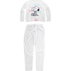 Υφασμάτινα Γυναίκα Πιτζάμα/Νυχτικό Snoopy HS3644 WHITE Blanco