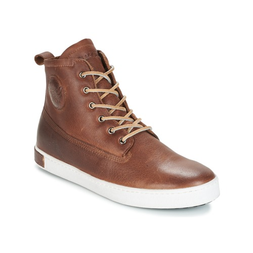 Παπούτσια Άνδρας Ψηλά Sneakers Blackstone INCH WORKER ON FOXING FUR Brown