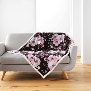 Σπίτι Ριχτάρια Douceur d intérieur VELVET FLOWER Brown