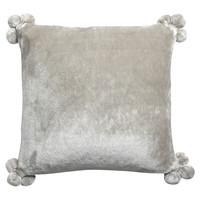 Σπίτι Μαξιλαροθήκες Vivaraise TENDER POMPONS Grey / Perle