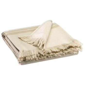 Σπίτι Πετσέτες και γάντια μπάνιου Vivaraise CANCUN Couleur / Lin