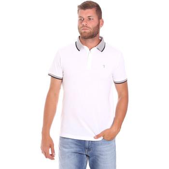 Υφασμάτινα Άνδρας Πόλο με κοντά μανίκια  Trussardi 52T00491-1T003600 λευκό