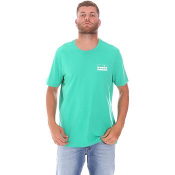 Υφασμάτινα Άνδρας T-shirt με κοντά μανίκια Diadora 502175837 Πράσινος