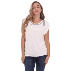 Υφασμάτινα Γυναίκα T-shirt με κοντά μανίκια Gaudi 111FD64023 λευκό