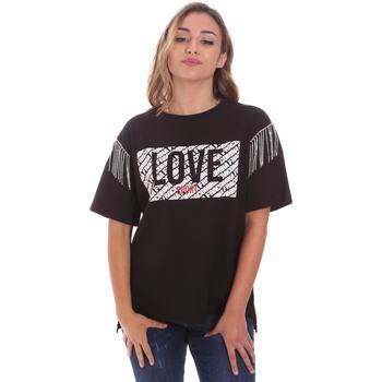 Υφασμάτινα Γυναίκα T-shirt με κοντά μανίκια Fracomina FT21ST3003J400N5 Μαύρος