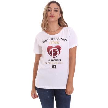 Υφασμάτινα Γυναίκα T-shirt με κοντά μανίκια Fracomina FP21ST3023J40013 λευκό