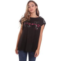 Υφασμάτινα Γυναίκα T-shirt με κοντά μανίκια Fracomina FT21ST3002J400N5 Μαύρος