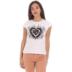 Υφασμάτινα Γυναίκα T-shirt με κοντά μανίκια Gaudi 111FD64017 λευκό