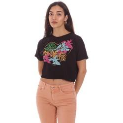 Υφασμάτινα Γυναίκα T-shirt με κοντά μανίκια Gaudi 111BD64041 Μαύρος