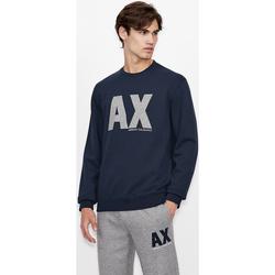 Υφασμάτινα Φούτερ EAX Sweatshirt col rond  6KZMFG-ZJ5UZ navy bleu marine