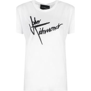 Υφασμάτινα Γυναίκα T-shirt με κοντά μανίκια John Richmond  Άσπρο
