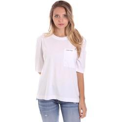 Υφασμάτινα Γυναίκα T-shirt με κοντά μανίκια Calvin Klein Jeans K20K202941 λευκό