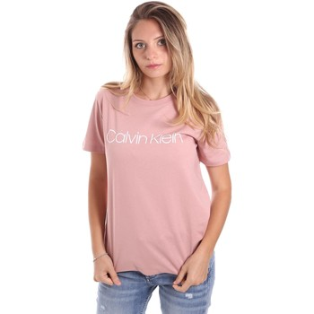 Υφασμάτινα Γυναίκα T-shirt με κοντά μανίκια Calvin Klein Jeans K20K202018 Ροζ