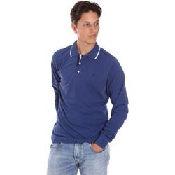 Υφασμάτινα Άνδρας Πόλο με μακριά μανίκια  Key Up 2L711 0001 Μπλε