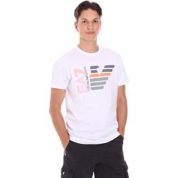 Υφασμάτινα Άνδρας T-shirt με κοντά μανίκια Ea7 Emporio Armani 3KPT22 PJ6EZ λευκό