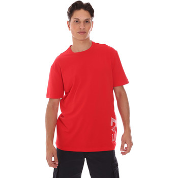 Υφασμάτινα Άνδρας T-shirt με κοντά μανίκια Ea7 Emporio Armani 3KPT23 PJ9TZ το κόκκινο