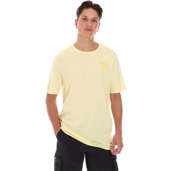 Υφασμάτινα Άνδρας T-shirt με κοντά μανίκια Fila 689289 Κίτρινος
