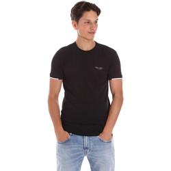 Υφασμάτινα Άνδρας T-shirt με κοντά μανίκια Key Up 2S420 0001 Μαύρος