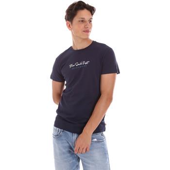 Υφασμάτινα Άνδρας T-shirt με κοντά μανίκια Key Up 2S438 0001 Μπλε