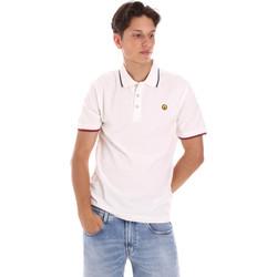 Υφασμάτινα Άνδρας Πόλο με κοντά μανίκια  Ciesse Piumini 215CPMT21423 C2510X λευκό