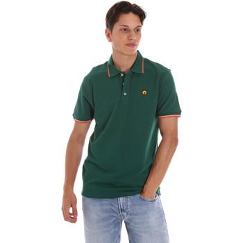 Υφασμάτινα Άνδρας Πόλο με κοντά μανίκια  Ciesse Piumini 215CPMT21423 C2510X Πράσινος