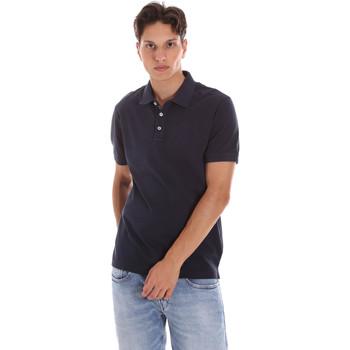 Υφασμάτινα Άνδρας Πόλο με κοντά μανίκια  Ciesse Piumini 215CPMT21454 C0530X Μπλε