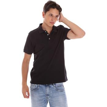Υφασμάτινα Άνδρας Πόλο με κοντά μανίκια  Ciesse Piumini 215CPMT21454 C0530X Μαύρος