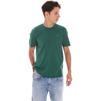 Υφασμάτινα Άνδρας Πόλο με κοντά μανίκια  Ciesse Piumini 215CPMT01455 C2410X Πράσινος