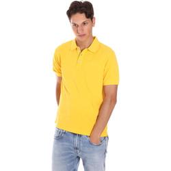 Υφασμάτινα Άνδρας Πόλο με κοντά μανίκια  Ciesse Piumini 215CPMT21454 C0530X Κίτρινος