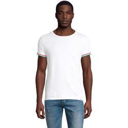 Υφασμάτινα Άνδρας T-shirt με κοντά μανίκια Sols CAMISETA MANGA CORTA RAINBOW Blanco