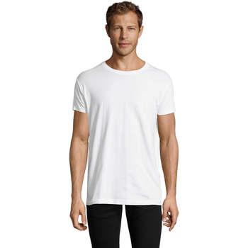 Υφασμάτινα Άνδρας T-shirt με κοντά μανίκια Sols REGENT FIT CAMISETA MANGA CORTA Blanco