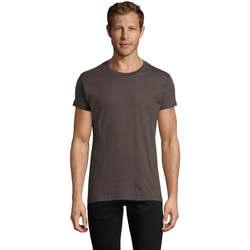Υφασμάτινα Άνδρας T-shirt με κοντά μανίκια Sols REGENT FIT CAMISETA MANGA CORTA Gris