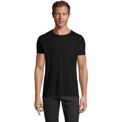 Υφασμάτινα Άνδρας T-shirt με κοντά μανίκια Sols REGENT FIT CAMISETA MANGA CORTA Negro