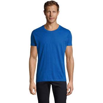 Υφασμάτινα Άνδρας T-shirt με κοντά μανίκια Sols REGENT FIT CAMISETA MANGA CORTA Azul